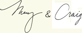 Mary & Craig's Signature